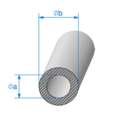 Rond EPDM Cellulaire <br /> [18 x 42 mm] <br /> Vendu au Mètre<br />