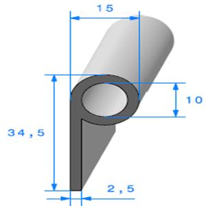 Note de Musique   [15 x 34.5 mm]   Vendu au Mètre