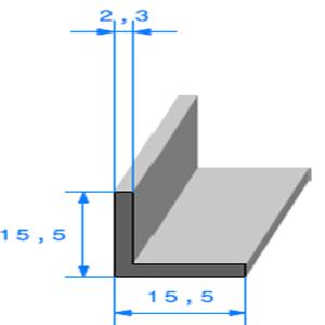 Compact en L   Ref 853   Vendu au Mètre