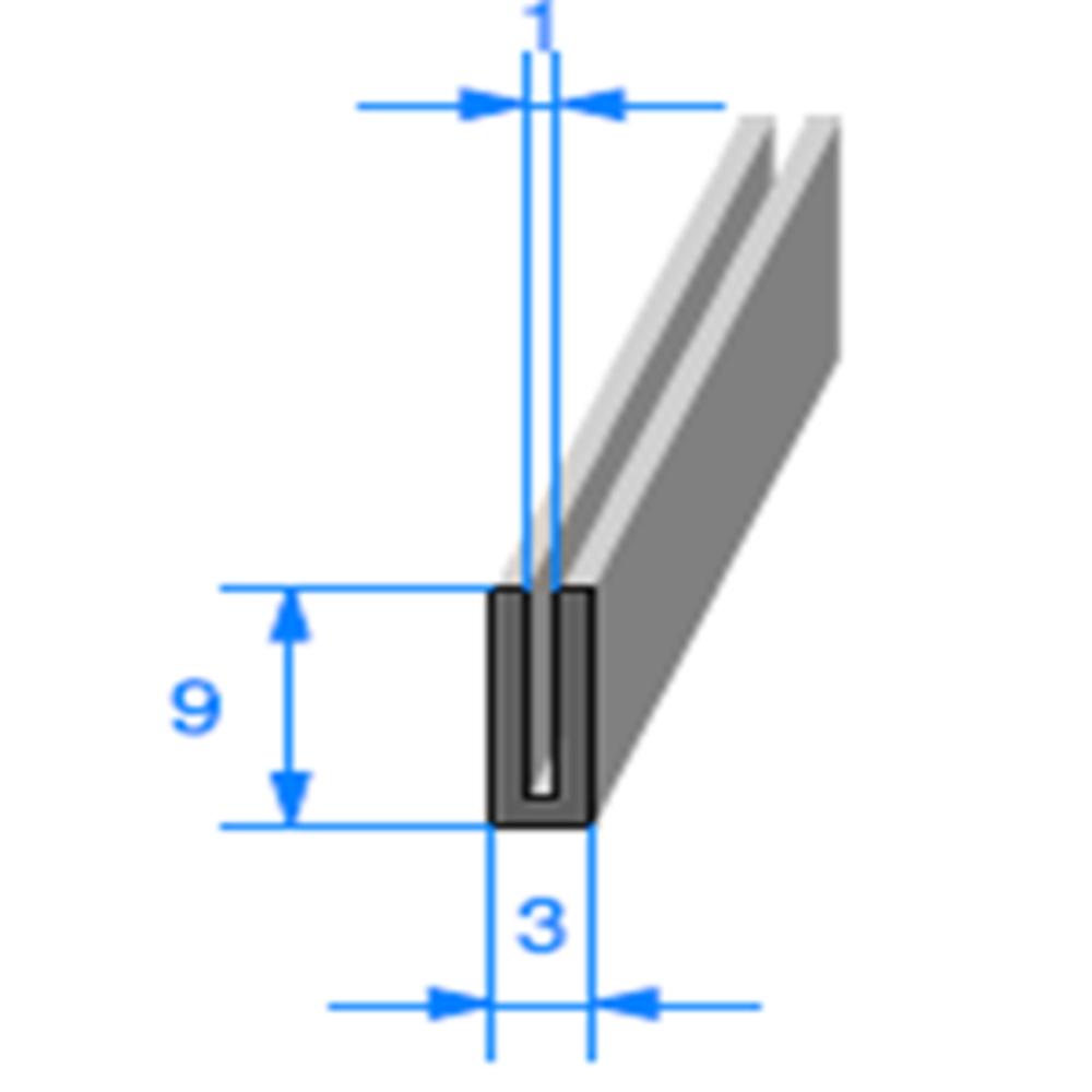 Compact en U   Ref 855   Vendu au Mètre