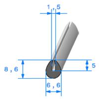 Compact en U   [pour EP 1.5 mm]   Vendu au Mètre