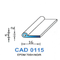 CAD0115N PROFIL EPDM - 70SH - NOIR