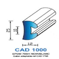 CAD1000B Profil EPDM <br /> 70 SH Blanc<br />