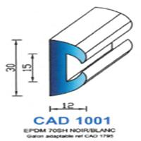 CAD1001N Profil EPDM <br /> 70 SH Noir<br />