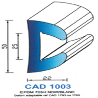 CAD1003B CAD1003B PROFIL EPDM - 70SH - BLANC