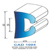 CAD1004B Profil EPDM <br /> 70 SH Blanc<br />