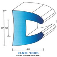 CAD1005N Profil EPDM   70 SH Noir