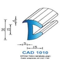 CAD1010B Profil EPDM   70 SH Blanc