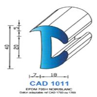 CAD 1011 N Joint EPDM <br /> 70 SH Noir <br /> Vendu au Mètre<br />