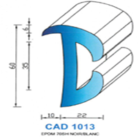 CAD1013N Profil EPDM   70 SH Noir
