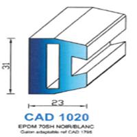 CAD1020N Profil EPDM   70 SH Noir