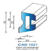 CAD1021N Profil EPDM   70 SH Noir