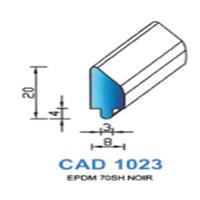 CAD1023N Profil EPDM   70 SH Noir