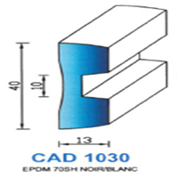CAD1030B Profil EPDM   70 SH Blanc