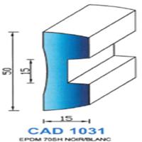 CAD1031B Profil EPDM   70 SH Blanc