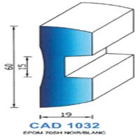 CAD1032N Profil EPDM   70 SH Noir   Vendu au Mètre