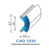 CAD1038N Profil EPDM <br /> 65 SH Noir<br />