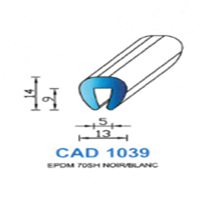 CAD1039N Profil EPDM   70 SH Noir