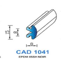 CAD1041N Profil EPDM <br /> 65 SH Noir<br />