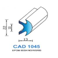 CAD1045N Profil EPDM <br /> 65 SH Noir <br /> Vendu au Mètre<br />