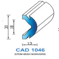 CAD1046G Profil EPDM   65 SH Gris