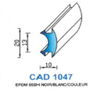 CAD1047N Profil EPDM <br /> 65 SH Noir <br /> Vendu au Mètre<br />