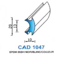 CAD1047N Profil EPDM   65 SH Noir