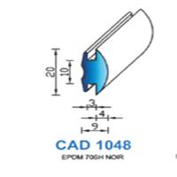 CAD1048N Profil EPDM   70 SH Noir