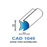 CAD1049N Profil EPDM   70 SH Noir