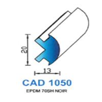 CAD1050N Profil EPDM <br /> 70 SH Noir <br /> Vendu au Mètre<br />