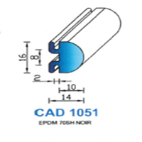 CAD1051N Profil EPDM   70 SH Noir