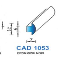 CAD1053N Profil EPDM <br /> 60 SH Noir <br /> Vendu au Mètre<br />