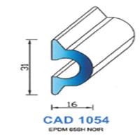 CAD1054N Profil EPDM <br /> 65 SH Noir <br /> Vendu au Mètre<br />