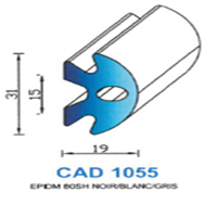 CAD1055N Profil EPDM   80 SH Noir