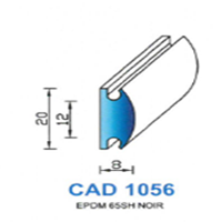 CAD1056N Profil EPDM   65 SH Noir