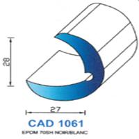 CAD1061B Profil EPDM <br /> 70 SH Blanc<br />
