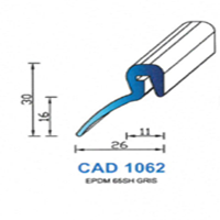 CAD1062G Profil EPDM   65 SH Gris