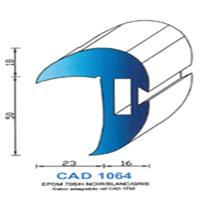 CAD1064B Profil EPDM <br /> 70 SH Blanc<br />