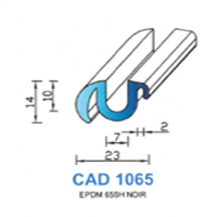 CAD1065N Profil EPDM   65 SH Noir