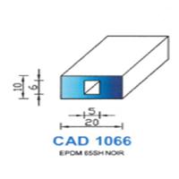 CAD1066N Profil EPDM   65 SH Noir