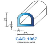CAD1067N Profil EPDM <br /> 65 SH Noir<br />