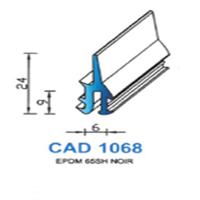CAD1068N Profil EPDM   65 SH Noir