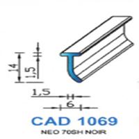 CAD1069N Profil EPDM   70 SH Noir