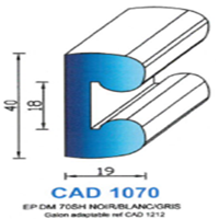 CAD1070B Profil EPDM   70 SH Blanc