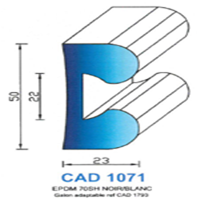 CAD1071N Profil EPDM   70 SH Noir