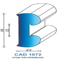 CAD1072N Profil EPDM   70 SH Noir
