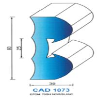 CAD1073N Profil EPDM   70 SH Noir