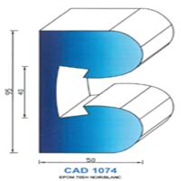 CAD1074N Profil EPDM   70 SH Noir