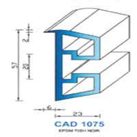 CAD1075N Profil EPDM   70 SH Noir