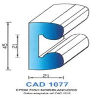 CAD1077N Profil EPDM   70 SH Noir